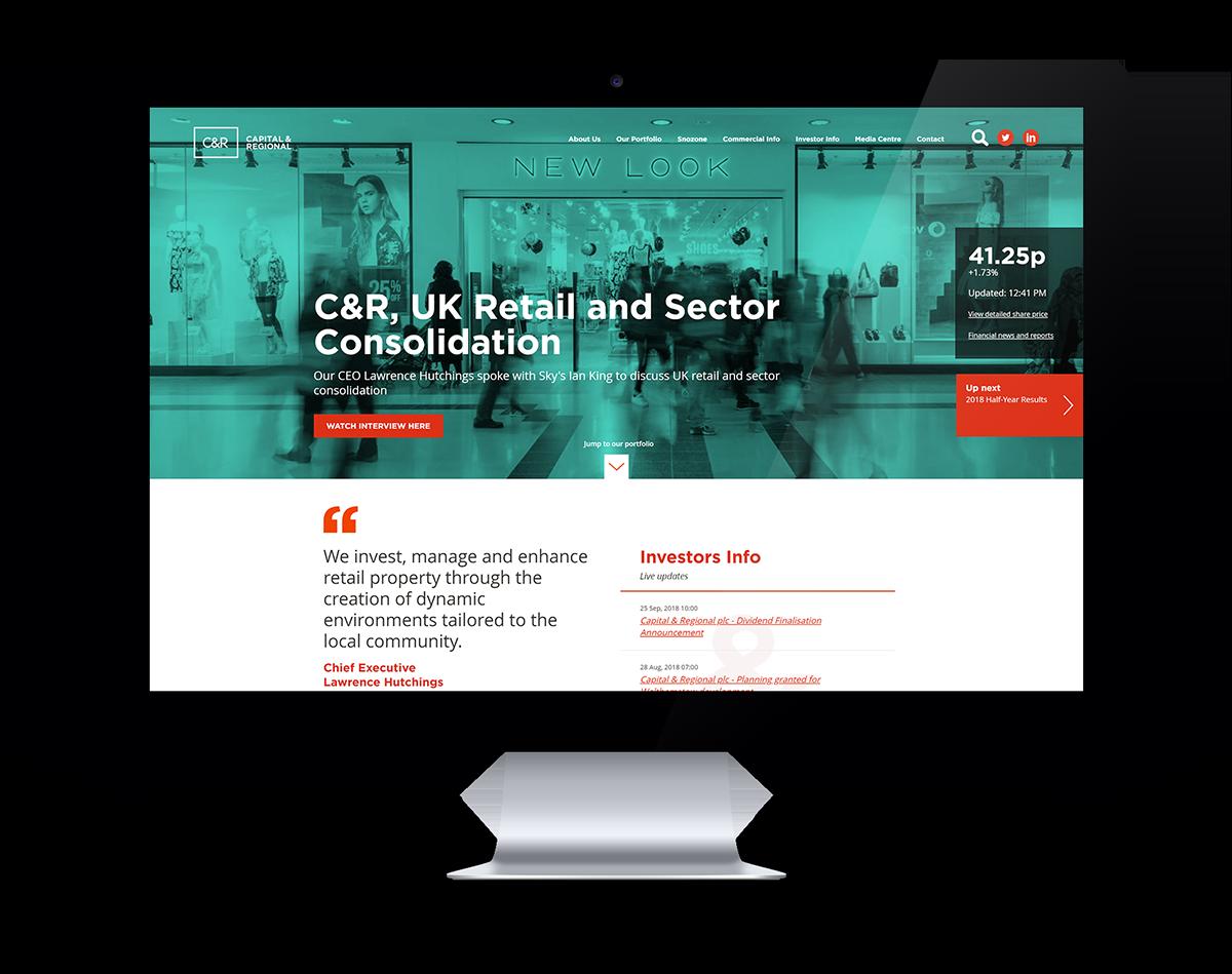 C&R website refresh design
