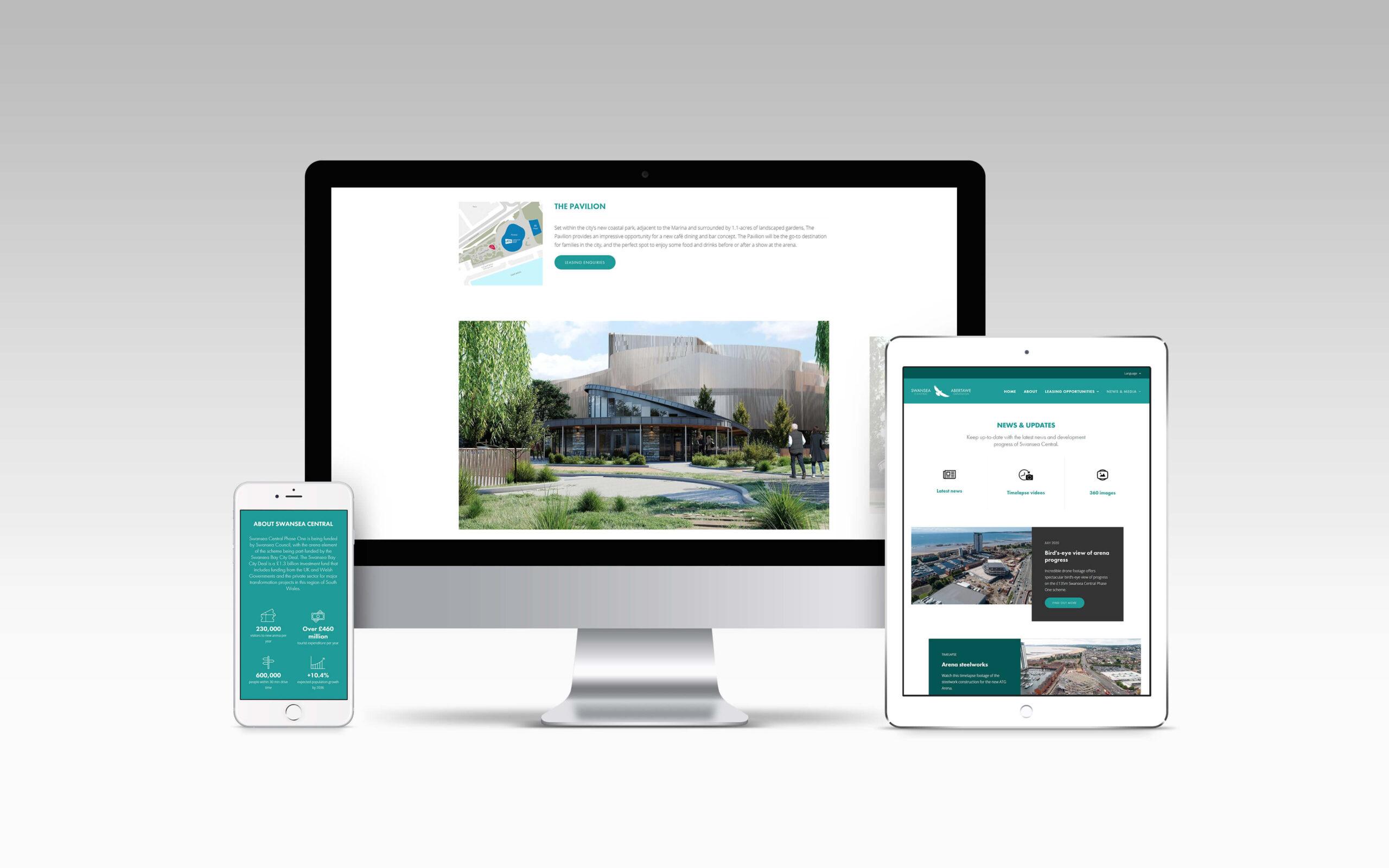 Swansea Central leasing website